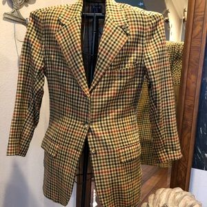 Facconable Wool Plaid blazer